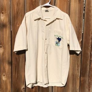 Vintage Casablanca Embroidered Cabo Button Up 40
